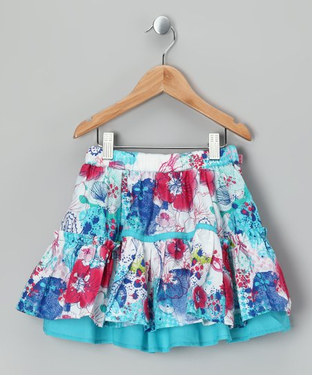 Bright White Sadia Skirt - Girls