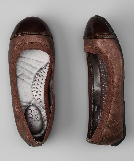 Brown Quilted Ada Ballet Flat