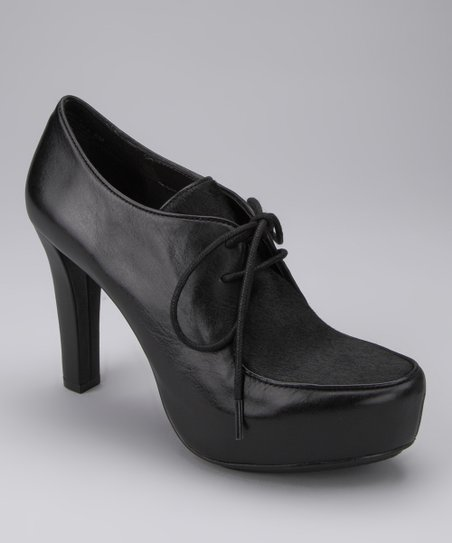 Black Soft Vacchetta Pony Hair Lynessa Bootie