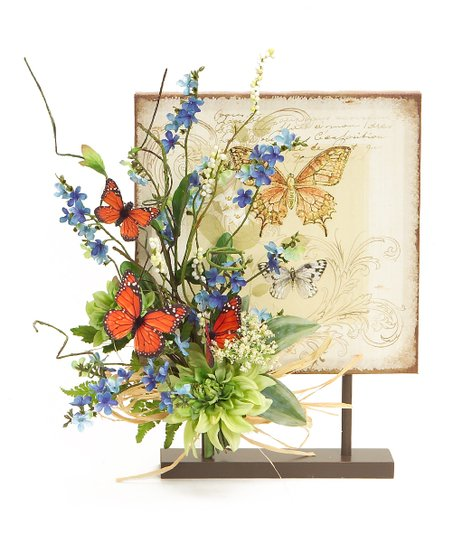Blue & Orange Butterfly Canvas