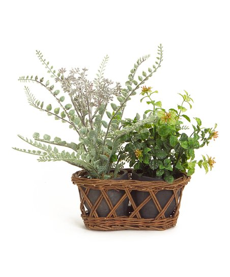 Green Terra-cotta Double-Pot Planter