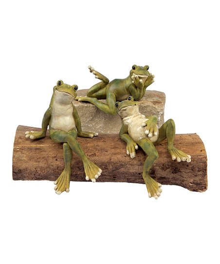 Sitting Shelf Frog - Set of Three