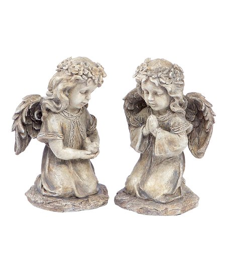Ivory Angel Child Figurine Set
