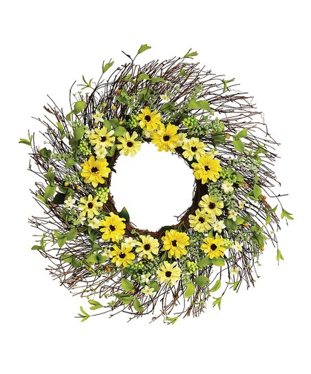 Yellow Zinnia Wreath