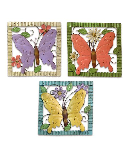 Butterfly Wall Art - Set of Three