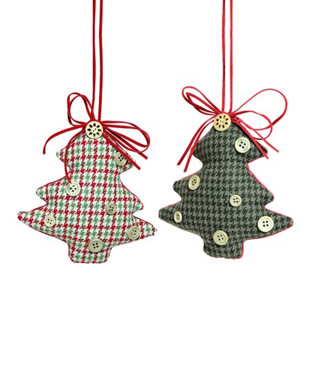 Houndstooth Tree Ornament - Set of Six