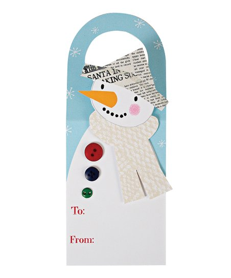 Snowman Wine Tag - Set of Four