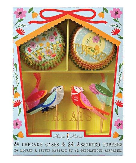 Floral Bird Cupcake Kit
