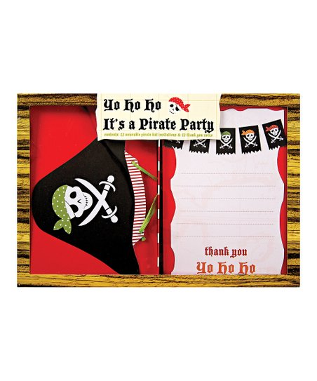 Pirate Invitation & Thank You Card Set