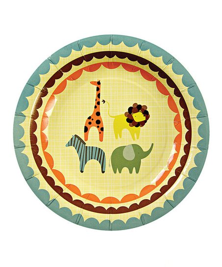 Animal Parade Paper Salad Plate - Set of 24