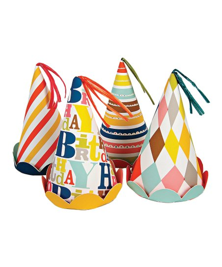 Meri Meri Happy Birthday Party Hat - Set of Eight