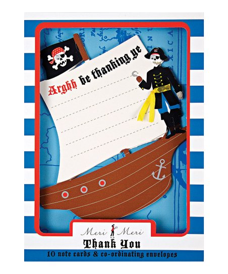 Pirate Thank You Card Set