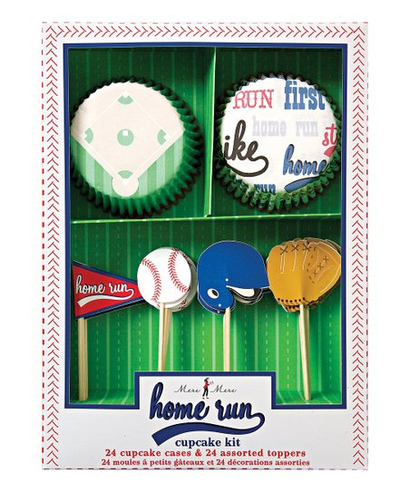 Baseball Cupcake Kit