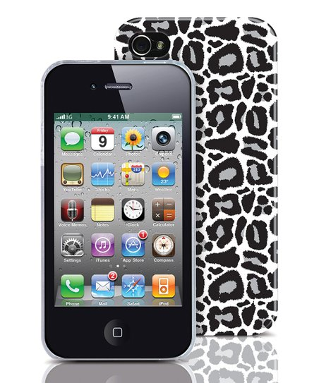 Silver Leopard Case for iPhone 4/4s