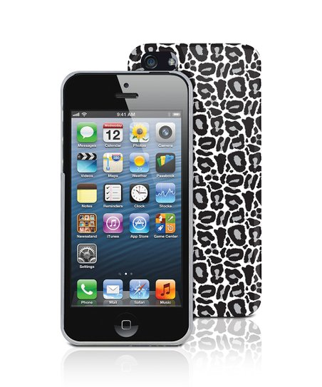 Leopard Silver Case for iPhone 5