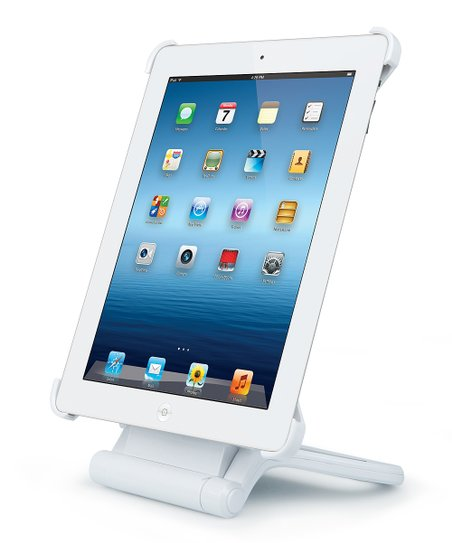 White Rotating Stand for iPad 3