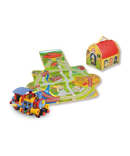 Storage Box Play Mat & Train Construction Kit