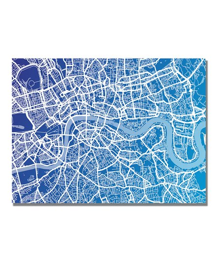 London Map Gallery-Wrapped Canvas