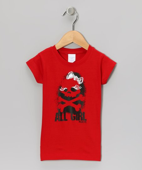 Red 'All Girl' Tee - Girls