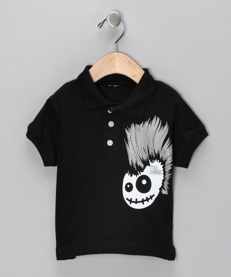 Black Skully Hawk Polo - Toddler & Boys