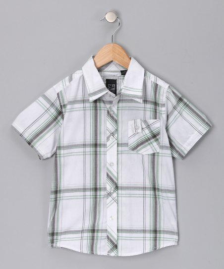 White Dylan Button-Up - Boys