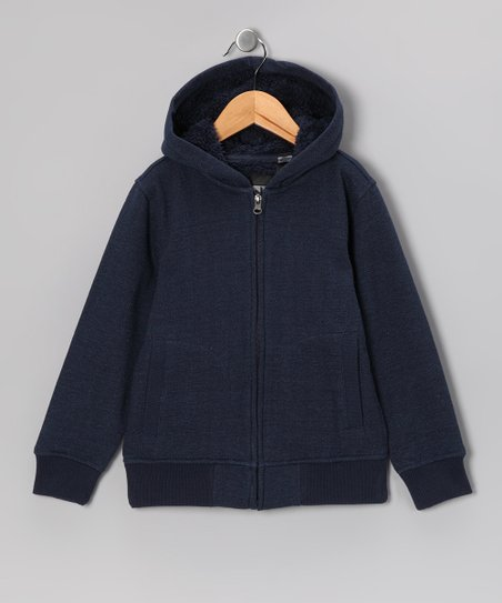 Navy Zip-Up Hoodie - Boys
