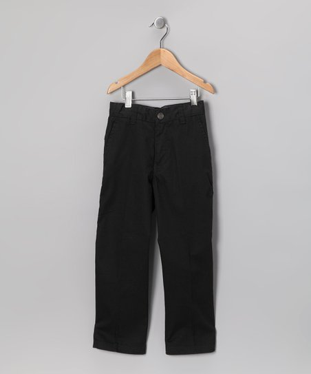 Micros Black Casual Chino Pants - Boys