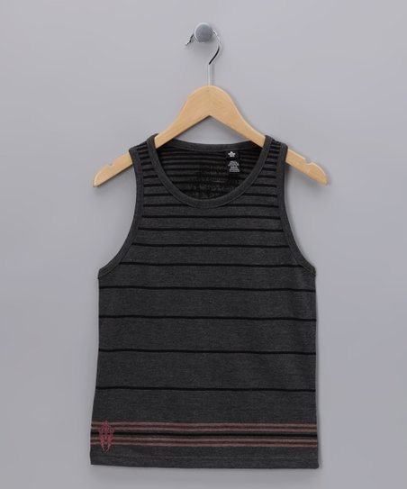 Micros Heather Charcoal Shaka Tank - Boys