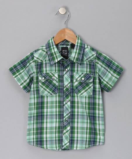 Kelly Green Odyssey Button-Up - Toddler & Boys