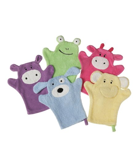 Animal Friends Washcloth Set