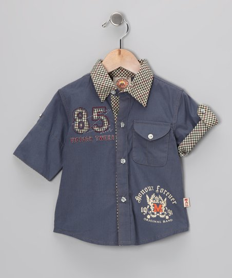 Blue '85' Button-Up - Infant