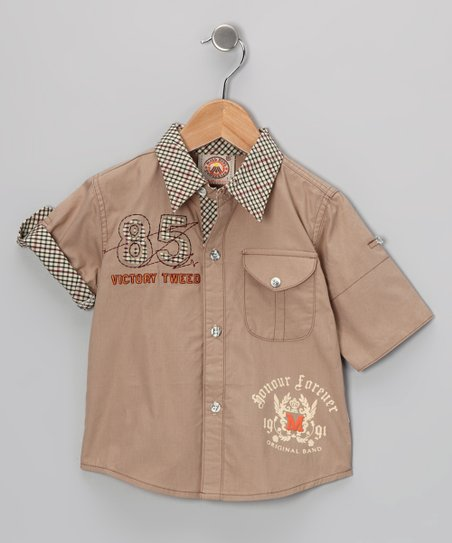 Brown &#039;85&#039; Button-Up - Toddler
