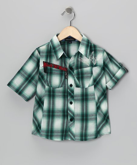 Green Plaid Button-Up - Infant, Toddler &amp; Boys