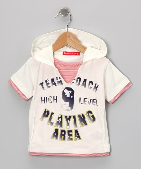 White 'Team Coach' Hooded Tee - Infant & Boys