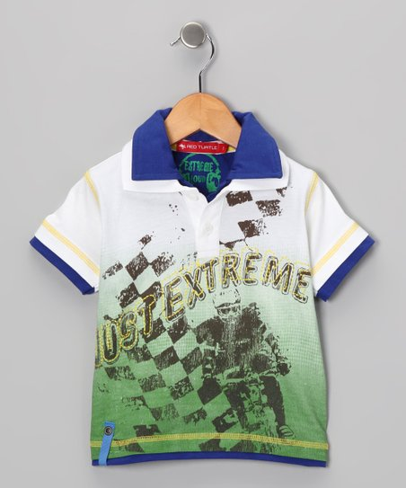 Blue & Green 'Just Extreme' Polo - Infant & Toddler