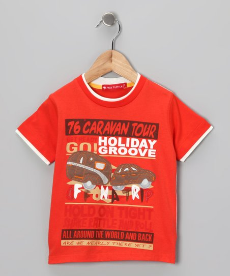 Orange 'Caravan Tour' Tee - Infant, Toddler & Boys