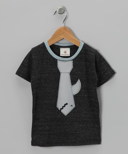 Charcoal Sharks Tie Tee - Toddler & Boys