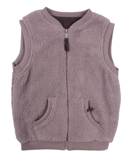 Minene Baby Gray Puffy Zip-Up Vest - Infant, Toddler & Kids