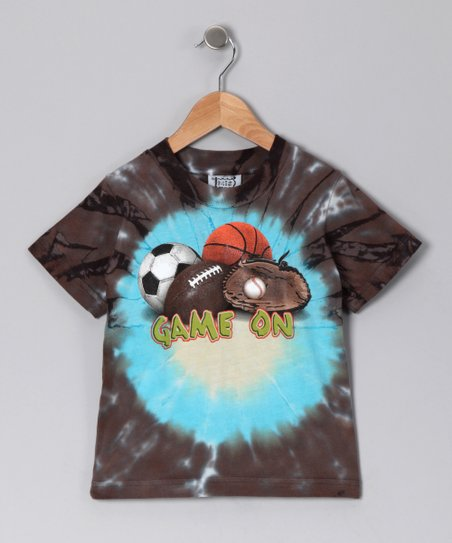 Chocolate 'Game On' Tie-Dye Tee - Toddler