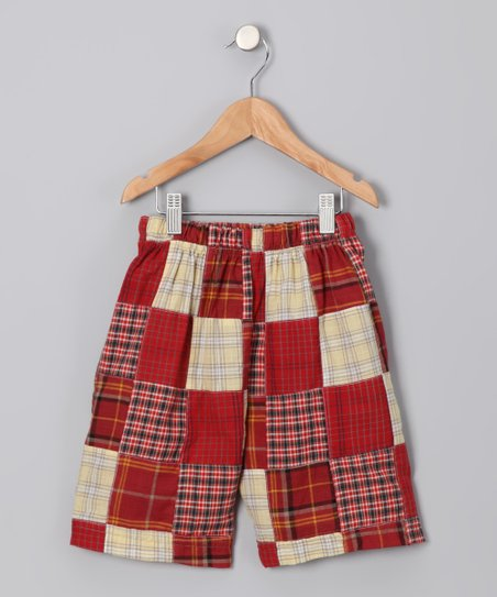 Brick Patchwork Plaid Shorts - Toddler & Boys