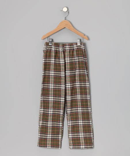Olive Plaid Pants - Infant, Toddler & Boys