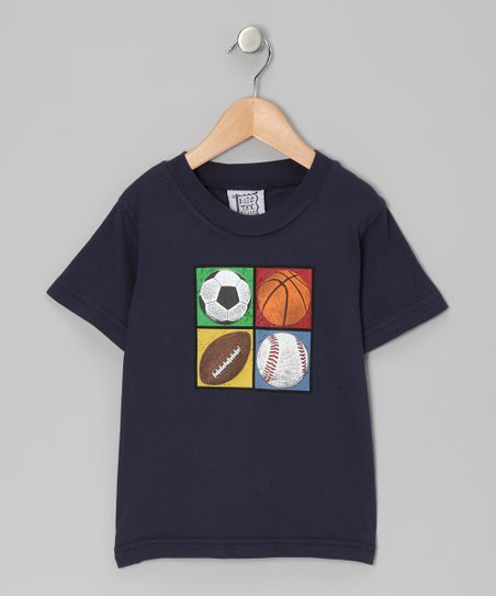 Navy Four Square Sports Tee - Toddler &amp; Boys