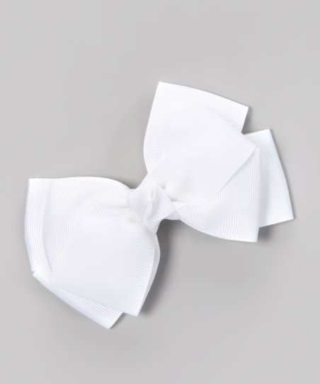 White Boutique Medium Clip