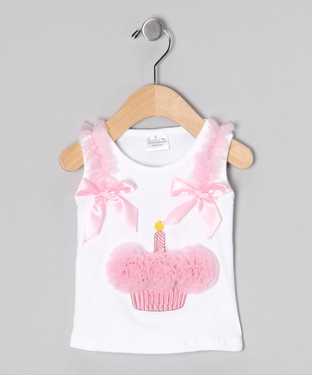 Light Pink Cupcake Tank - Infant, Toddler & Girls