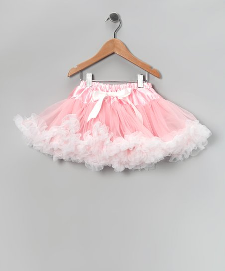 Light Pink & White Pettiskirt - Toddler & Girls