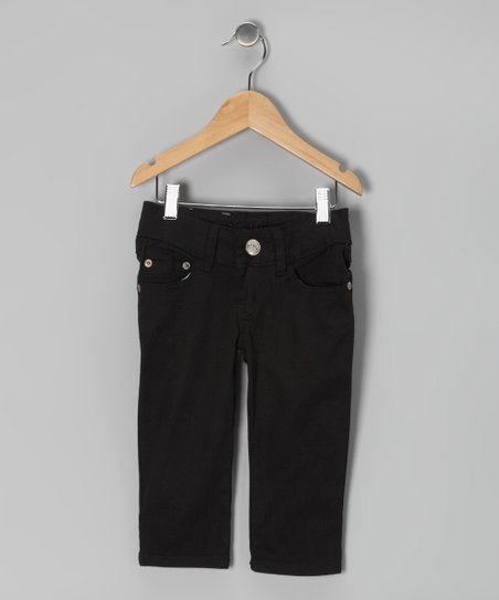 Black Denim Capri Pants - Girls