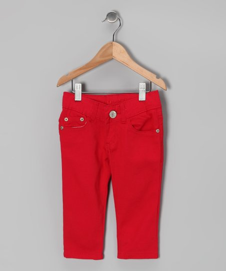 Red Denim Capri Pants - Toddler & Girls