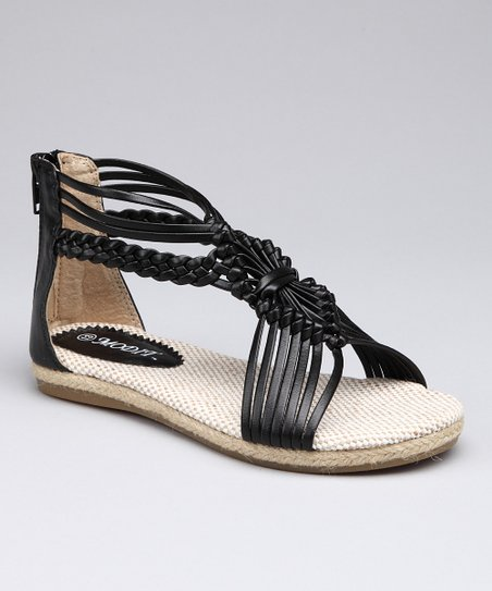 Black Knotted Strappy Sandal