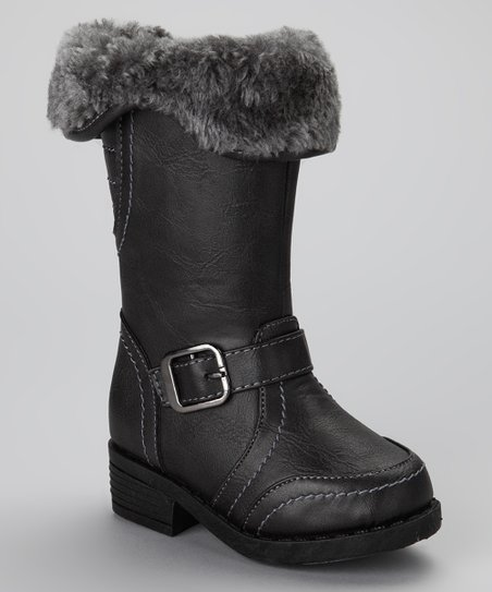 Black Buckle Artic Boot