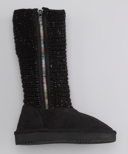 Black Knit Java Boot